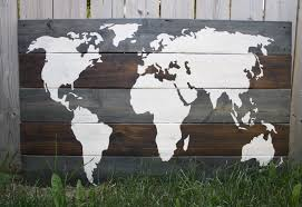 Diy World Map by Diy Wood Plank World Map Inspired Findings