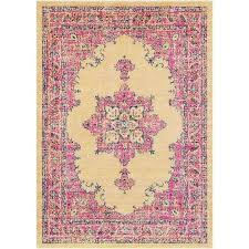 Pink Floral Rugs Persian Distressed Gray Pink Floral Rug