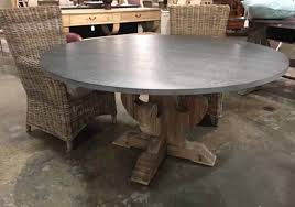 Zinc Table Top Marvelous Decoration Zinc Top Round Dining Table Interesting 1000