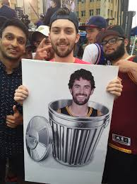 Kevin Love Meme - cav s fan with a kevin love trash sign imgur