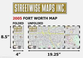 Fort Worth Map Streetwise Fort Worth Map Laminated City Center Street Map Of