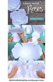 Paper Roses Paper Roses Diy My Online Wedding Help Budget Wedding Blog