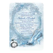 sweet 16 cinderella theme cinderella invitations announcements zazzle