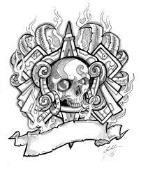 evil skull tattoo designs cliparts co