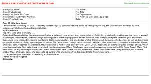 mate ship application letter