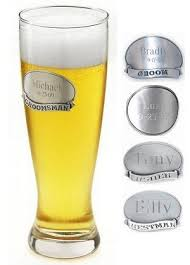 wedding favors unlimited personalized vintage pewter medallion pilsner glass from wedding