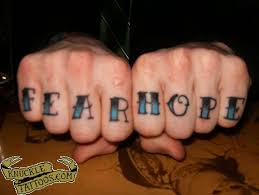 tattoo finger hope hope knuckletattoos com