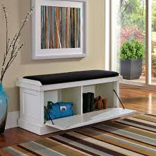 Entryway Storage Furniture by Home Styles Nantucket Distressed Upholstered Storage Bench Hayneedle