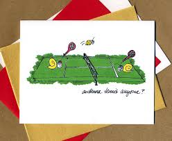 antenna tennis snail note cards from fast snail greetings design