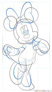draw minnie mouse step step drawing tutorials