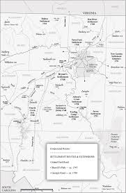 Map Of Sc And Ga Great Wagon Road Ncpedia