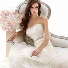 wedding dress sle sale nyc 2015 lace and organza trumpet designer sash diamante beading waves