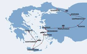 Turkey Greece Map by Vacation Package Turkey And Greece 12 Days