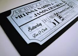 ticket wedding invitations wedding invitations deco silver