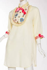 1960s gucci inspired babydoll shirt dress for sale at 1stdibs