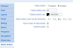 templates radio button