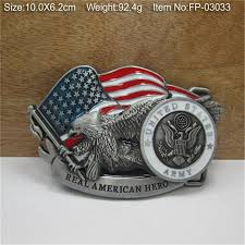 American Flag Jean Shorts Men Women Men Boy Real American Hero Belt Buckle Metal Military