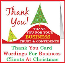 Christmas Cards For Business Clients Christmas Thank You Messages Thank You Messages For Business