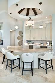 half moon kitchen table and chairs kitchen the half moon shaped island is awesome what size half