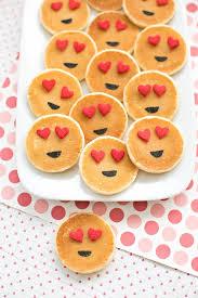 easy mini emoji pancakes cute breakfast idea for kids sweet