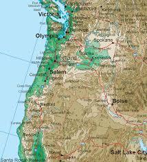 road map northwest usa northwestern states topo map