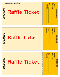 raffle ticket template u2026 pinteres u2026