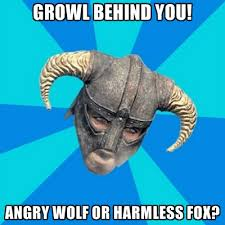 Angry Wolf Meme - growl behind you angry wolf or harmless fox create meme