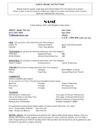 Resume For Theater Actors Resume Example Actor Resume Format Resume Format And