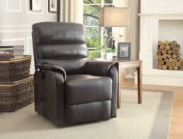 Brown Leather Recliner Chair Homelegance Kellen Power Lift Chair Dark Brown All Bonded