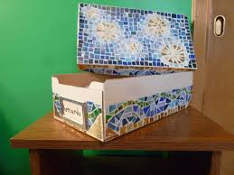 mosaic box from old christmas cards u2022 recyclart