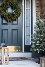 home made outdoor christmas decorations easy outdoor christmas decorating ideas for a tiny front porch