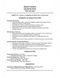 Resume Warehouse Resume Cover Letter Warehouse