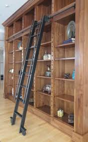 custom steel rolling library ladder by andrew stansell design