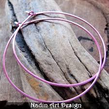 ear hoops pink color hoop earrings 2 inch hoops 5cm rounded ear wires
