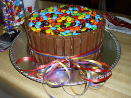 my kit kat m and m u0027s cake i found the idea on pinterest and made