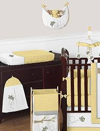 Gray And Yellow Crib Bedding Sweet Jojo Designs Bedding Sets Honey Bumble Bee Hive Yellow