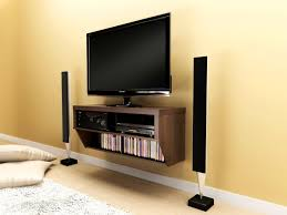 led tv wall design in bed room and hall minimalist wooden flat