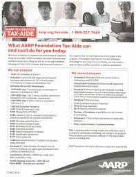 Schedule E Worksheet Aarp Tax Aide Flower Mound Tx Official Website