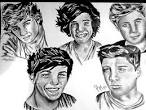 One Direction Drawing by Pauline Murphy - One Direction Fine Art ...