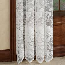 floral vine lace window treatments