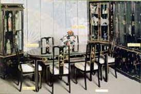 Lacquer Dining Room Sets Black Lacquer Dining Room Chairs Gallery Of Images On Ha Black