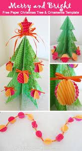 25 handmade christmas ideas 3d paper christmas tree and free