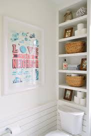 White Shelves For Bathroom - our showhouse young house love