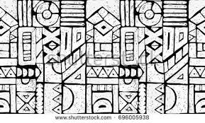 ethnic aztec ornament pattern free vector stock