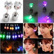 light up earring studs 1 pair light up toys led earrings studs blinking
