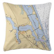 Stuart Florida Map by Fl Jensen Beach Stuart Fl Nautical Chart Pillow Nautical