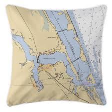 Jensen Beach Florida Map by Fl Jensen Beach Stuart Fl Nautical Chart Pillow Nautical