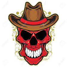decorative cowboy skull head royalty free cliparts vectors and