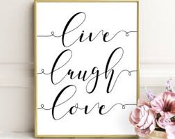 Love Laugh Live Laugh Often Love Etsy