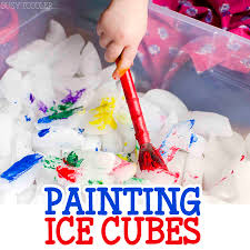 painting cubes activity busy toddler